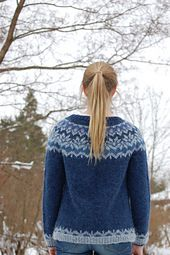 Ravelry: Pirkko's Afmæli cardigan with great notes on steering