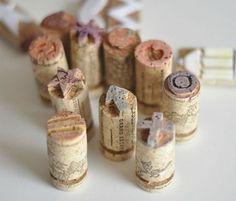 Sellos hechos en tapones de corcho