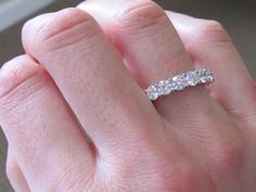 Diamond Eternity Band from Engagement Rings Direct. Love the bigger diamond bands Buy Diamond Ring, Eternity Ring Diamond, Eternity Bands, Diamond Bands, Diamond Wedding Bands, Diamond Eyes, Princess Wedding Rings, Wedding Ring Styles, Wedding Rings Vintage