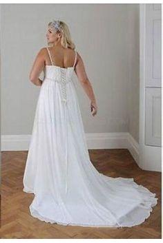 f600b1da253 Empire Chiffon Plus Size Maternity Wedding Dresses Bridal Gowns 3030289