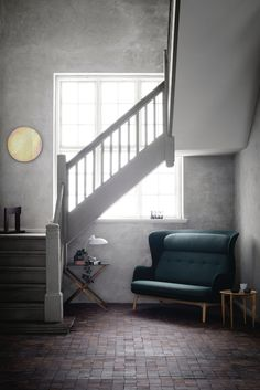 Republic of Fritz Hansen introduces Ro as a two-seater sofa - DESIGNSETTER - Design Lifestyle and Interior Design Magazine Fritz Hansen, Stairs In Kitchen, Under Stairs Cupboard, Interior Design Magazine, Sofa Green, Under Stairs Storage Solutions, Sofas, Small Hallways, Stair Storage