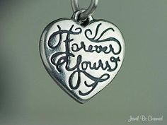 Forever+Yours+Sterling+Silver+Charm+Heart+for+by+jewelbecharmed,+$3.95