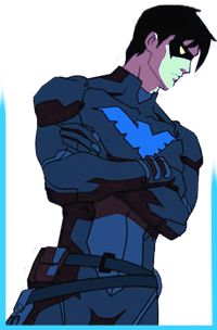 The name's Nightwing, now. Former Boy Wonder. Reserve member of the Young Justice covert ops team. Batwoman, Batgirl, Dick Grayson Batman, Young Justice Robin, Richard Grayson, Nightwing And Starfire, Fanart, Batman Family, Red Hood