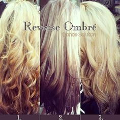 For blonde, pastel is not the only option and anyone obsessed with Reverse Ombré? Special and unique, just like U, girls! Vote for your favorite - 1, 2 or 3? Or anything else? Contact us here: service@vpfashion.com. to see more ombre hair colors, sombre hair colors, or reverse hair colors,  Join Our Instagram with @VP Fashion or #vpfashion.