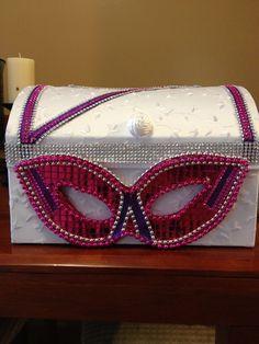 Sweet 16 Masquerade Ball Theme | Card box | Alexis' Sweet 16 Masquerade Ball Ideas