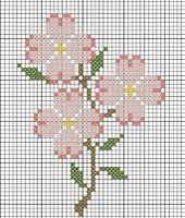 Dogwood - add a colored background voila! Perler pattern