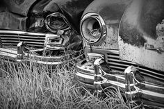 Vintage Frazer Auto Wreck Front Ends in Cooke City Montana near Yellowstone A Black & White Fine Art Automobile Car Photograph Cooke City Montana, Black N White Images, Black And White, Old Chevy Pickups, Car Photographers, Photoshop Me, Framed Canvas Prints, Photo Art