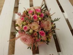 ramo de novia de rosas austin