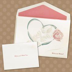 Rose in Heart - Invitation