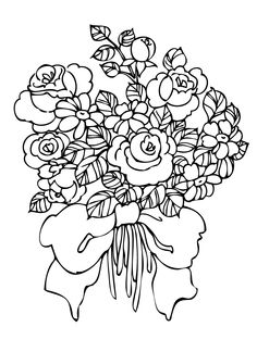 Rose bouquet coloring pages - Bing Images