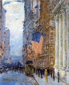 Flags on the Waldorf - Childe Hassam 1916
