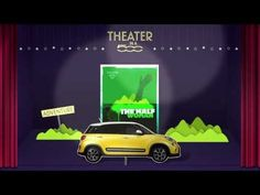 really amazing interactive campaign. converting a brand's essence into real-life experience. 'Theater in a Fiat 500' #advertising