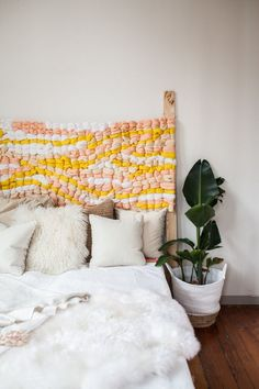 How to Make a Woven Headboard This DIY headboard project only looks like it requires an advanced degree in weaving. (Surprise: It's actually easy enough for beginners to make.) The post How to Make a Woven Headboard appeared first on Weaving ideas. Cheap Home Decor, Diy Home Decor, Home Bedroom, Bedroom Decor, Bedroom Ideas, Bedrooms, Decor Room, Entryway Decor, Diy Interior