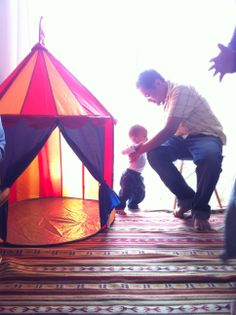 carnival themed first birthday ringmaster tent
