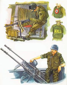 Flak Jackets: • US Army helicopter crewman, 'chickenplate'; 1970  • US Navy gunner, 'Titanium/Nylon Composite' armour; 1969