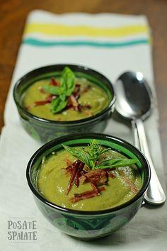 Crema di zucchine e basilico_Posate Spaiate