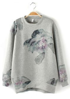 Chinese Painted Flower Pullover