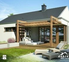 The pergola kits are the easiest and quickest way to build a garden pergola. There are lots of do it yourself pergola kits available to you so that anyone could easily put them together to construct a new structure at their backyard. Pergola Attached To House, Deck With Pergola, Cheap Pergola, Covered Pergola, Outdoor Pergola, Backyard Pergola, Patio Roof, White Pergola, Corner Pergola