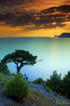 ~~Cyan Sea ~ Crimea, Ukraine, Black Sea at sundown by hiddenhallow~~: