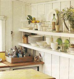 kitchen, bar, open shelves