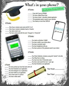 Graduation Games, Graduation party, Graduation Printables WHATS INCLUDED: ► One Game Sheet as shown in listing- included as a JPG HOW IT WORKS: ► Add this design/item to your cart, check out and make payment ► Once you purchase, you will immediately be able to download this file.
