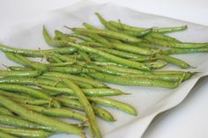 Baked Green Beans 400F 25-30 min tossing after 15min.  Coat with Italian Seasoning packet and EVOO, Bake...done.