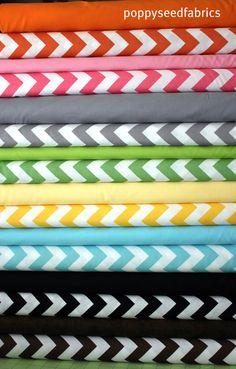Designer solid and Chevron half Yard bundle 13 by poppyseedfabrics, $48.75