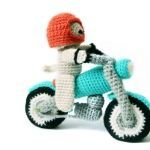 Dog & Motorbike Amigurumi Pattern - Crochet Pattern Bike