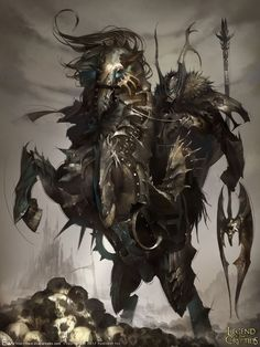 Artist: Evan Lee aka EVANLEE82 - Title: Devil Knight adv - Card: Undead Subduer Eligos (Dark Knight)