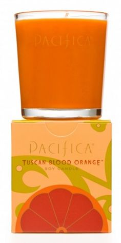 one of my favorite candles that i love to have on my desk / pacifica tuscan blood orange
