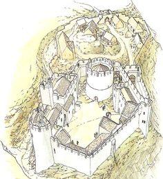 Dinefwr Castle: Dyfed, Wales aerial.jpg (546×600)