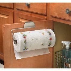 Spectrum 76771 Over The Drawer/Cabinet Paper Towel Holder, Brushed Nickel