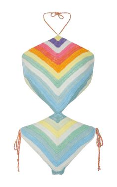 The Destination Edit: Memorial Day—The M'odette Way: Tatiana Hambr's Weekend Picks: Crochet Rainbow One Piece Swimsuit by Mara Hoffman | Moda Operandi