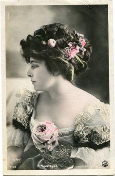 Vintage French RPPC Postcard Actress Stage Star Miss Lantelme Reutlinger | eBay