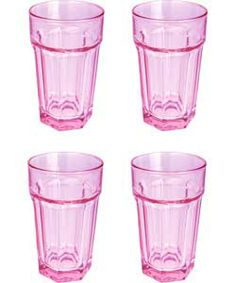 colourmatch set of 4 american tumblers bubblegum pink table accessorieskitchen accessorieskitchen - Pink Kitchen Accessory