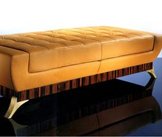 Macassar ebony Chaise longues, Daybeds and Sofas. Part of an exceptional collection of Interior Design and Furniture from Taylor Llorente Furniture. Bench Furniture, Chair Bench, Funky Furniture, Furniture Design, Pouf Ottoman, Ottoman Bench, Living Room Sofa Design, Living Room Decor, Chaise Sofa