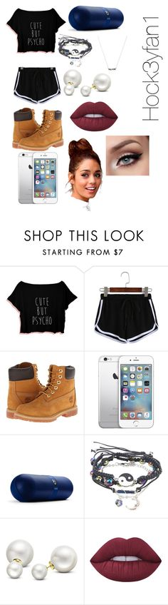 """""""Work outfit"""" by alexandraautidiea9 on Polyvore featuring Timberland, Beats by Dr. Dre, Allurez and Lime Crime"""
