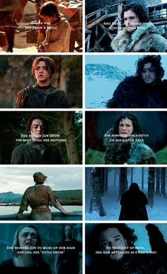 Game of thrones, arya stark & jon snow