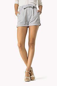 shorts mit paperbag-taille ist der H