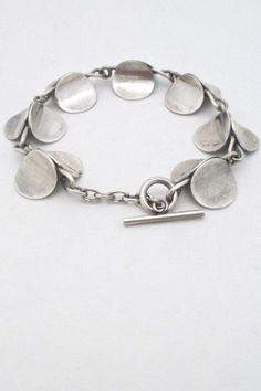 Carl Ove Frydensberg, Denmark - vintage modernist 'silver circles' link bracelet #bracelet #Denmark