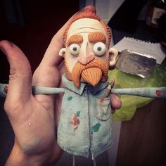 Puppet Making Portfolio on Behance ★ Van Gogh Animation Image Par Image, Character Concept, Character Art, Living Puppets, Animation Stop Motion, 3d Animation, Marionette Puppet, Puppet Making, Art Et Illustration