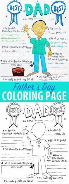 @rabbitgooing  Free printable Father's Day coloring sheet and 'all about dad!' Simply print and color for an easy last minute gift idea for dad.