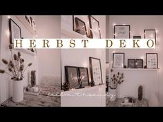 Herbstlich dekorieren #fallwithsandy - YouTube Gallery Wall, Interior, Frame, Youtube, Home Decor, Decorating, Ad Home, Picture Frame, Decoration Home