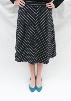 Retro Chevron Skirt by barelysquarely on Etsy, $35.00