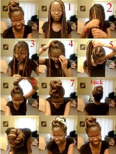 Box braids style. I want to get my hair done like that