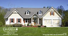 Glenville II 07098, Front Elevation, Traditional Style House Plans, Ranch Style House Plans