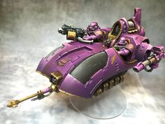 Warhammer 30k Horus Heresy | Emperors Children Javelin #warhammer #30k #30000 #wh30k #horus #heresy #preheresy #space #marines #gw #gamesworkshop #forgeworld #wellofeternity #miniatures #wargaming #hobby