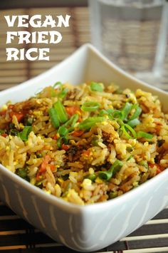 Best Ever Vegan Fried Rice with Scrambled Tofu - Whether you serve it for lunch or dinner, this vegan fried rice is one of the best you'll ever make! It's simple, delicious, and healthy - what more could you ask for?