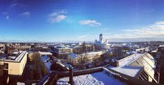 Helsinki  #goodmorning #grafter #bluesky #winterday #rooftops #panorama