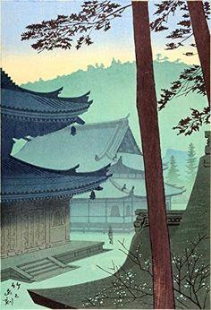"Japanese Art Print ""Sennyuji Temple"" by Asano Takeji. Shin Hanga and Art Reproductions http://www.amazon.com/dp/B00XTKMXBW/ref=cm_sw_r_pi_dp_CCXvwb0GT6PNQ"